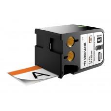 DYMO XTL Pre-Sized Safety Label 51 mm x 102 mm / black on white /Orange Header (1868713)