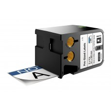 DYMO XTL Pre-Sized Safety Label 51 mm x 102 mm / black on white /Blue Header & Pre-Printed NOTICE (1868715)