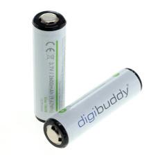 Akumulator 18650-2600mAh PCM do latarek 2szt. marka digibuddy, ogniwa Samsung