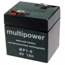 Akumulator Multipower MP1-6 6V 1Ah AGM bezobsłogowy