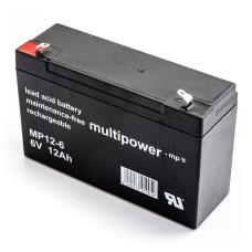 Akumulator Multipower MP12-6 6V 12Ah AGM bezobsłogowy