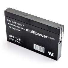 Akumulator Multipower MP2-12SL 12V 2Ah AGM bezobsłogowy