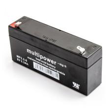 Akumulator Multipower MP3.3-6 6V 3,3Ah AGM bezobsłogowy