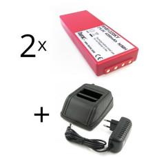 Zestaw ładowarka zamienna do HBC Radiomatic 12-230V + 2 baterie FUB10AA, BA214061, BA213020, BA214060, BA210040, BA21060