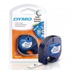 DYMO LetraTag PlastikLint 12mm x 4m / must valgel (S0721560 )