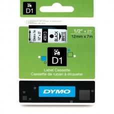 DYMO D1 Lint 12mm x 7m / must valgel (45013 / S0720530)