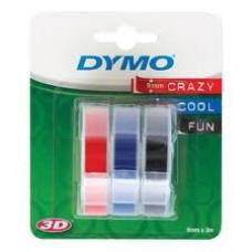 DYMO 3D Lints Mehhaanilisele Etiketiprinterile 9mm x 3m / punane/sinine/must (S0847750) – 3 tk.