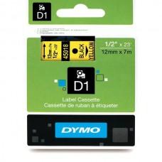 DYMO D1 Lint 12mm x 7m / must kollasel (45018 / S0720580)