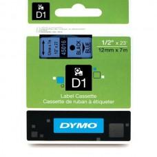 DYMO D1 Lint 12mm x 7m / must sinisel (45016 / S0720560)