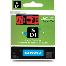 DYMO D1 Lint 12mm x 7m / must punasel (45017 / S0720570)