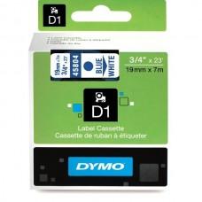 DYMO D1 Lint 19mm x 7m / sinine valgel (45804 / S0720840)