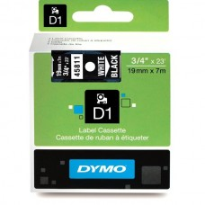 DYMO D1 Lint 19mm x 7m / valge mustaga (45811 / S0720910)