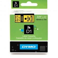 DYMO D1 Lint 19mm x 7m / must kollasel (45808 / S0720880)