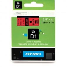 DYMO D1 Lint 19mm x 7m / must punasel (45807 / S0720870)