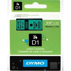 DYMO D1 Lint 19mm x 7m / must rohelisel (45809 / S0720890)