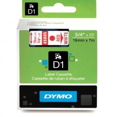 DYMO D1 Lint 19mm x 7m / punane valgel (45805 / S0720850)