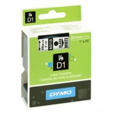 DYMO D1 Lint 24mm x 7m / must valgel (53713 / S0720930)