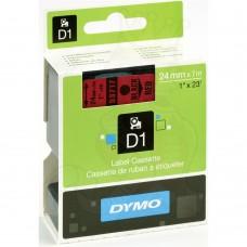 DYMO D1 Lint 24mm x 7m / must punasel (53717 / S0720970)