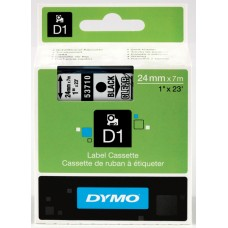 DYMO D1 Lint 24mm x 7m / must läbipaistval (53710 / S0720920)