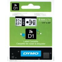 DYMO D1 Lint 6mm x 7m / must valgel (43613 / S0720780)