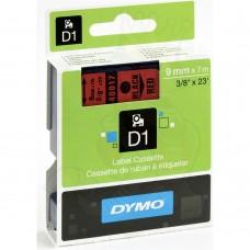 DYMO D1 Lint 9mm x 7m / must punasel (40917 / S0720720)