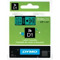 DYMO D1 Lint 9mm x 7m / must rohelisel (40919 / S0720740)