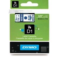 DYMO D1 Lint 9mm x 7m / sinine valgel (40914 / S0720690)