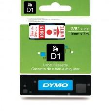 DYMO D1 Lint 9mm x 7m / punane valgel (40915 / S0720700)
