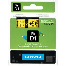 DYMO D1 Lint 9mm x 7m / must kollasel (40918 / S0720730)