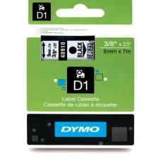 DYMO D1 Lint 9mm x 7m / must läbipaistval (40910 / S0720670)