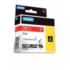 DYMO Rhino VinüülLint 12mm x 5.5m / valge punasel (1805416)