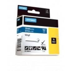 DYMO Rhino VinüülLint 19mm x 5.5m / valge sinisel (1805417)