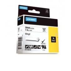DYMO Rhino VinüülLint 24mm x 5.5m / must valgel (1805430)